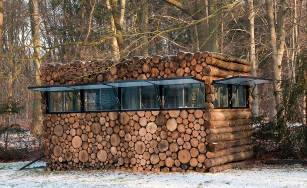 Tree-Trunk Garden House by Piet Hein Eek