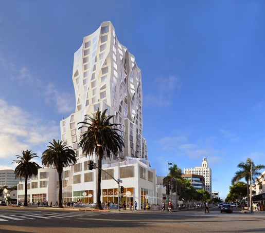 Frank Gehry Designs Mixed-Use Tower for Downtown Santa Monica